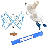 Yarn Ball Winder and Yarn Umbrella Swift (with Skein Holder) Basic Combo Set