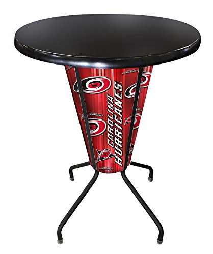 - Holland Bar Stool Co. L218B42CarHurOD36RBlk Outdoor/Indoor LED Lighted Carolina Hurricanes Pub Table