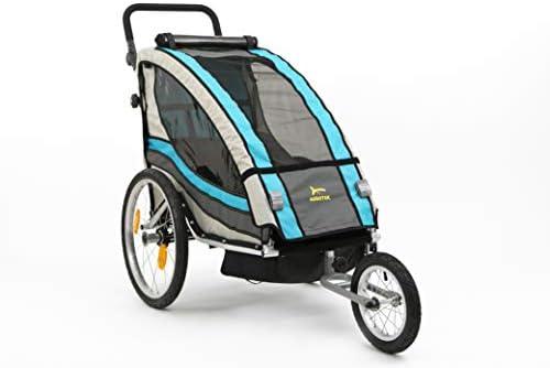 Aurotek Yogui Remolque Bici para niños, de Aluminio con Suspensión ...