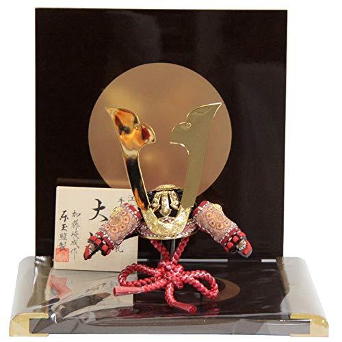 五月人形 兜 平飾り 大地 加藤峻成 日月屏風台 幅33cm [195to1103] B07Q2L7K98