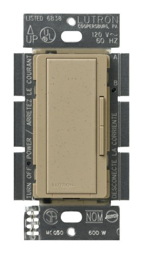 600w Multi Location Dimmer - Lutron MSC-AD-MS Maestro 600-Watt Accessory Dimmer Mocha Stone