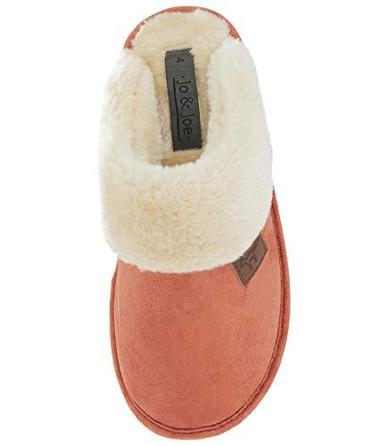 Scivolare 8 Bordo Scarpe Sintetica Di Su Misura Wicklow Tartan Burnt Pelliccia Pantofole In Orange Mulo Donna 3 wYxEgHq6P