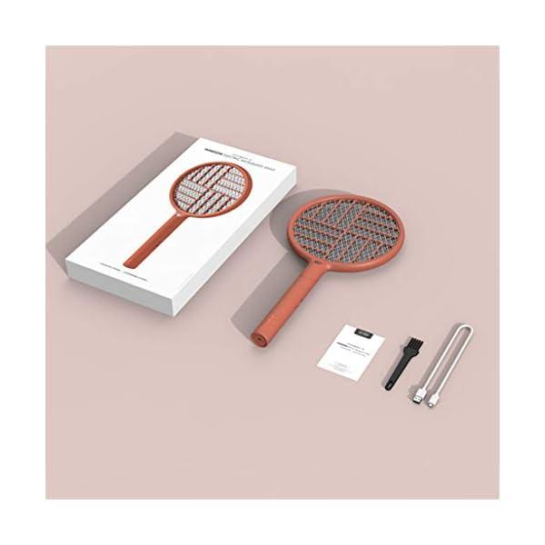 2 in 1 pieghevole elettrico Schiacciamosche 1200mAh - ricaricabile g Zapper Tennis Raet wi Safe To rete della maglia 4 spesavip