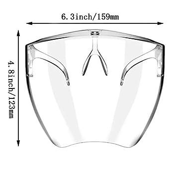 Visera protectora de cara completa A vapores de aceite visera facial transparente ajustable de pl/ástico resistente para prevenir la saliva