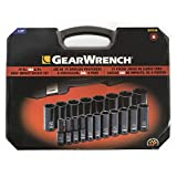 """GEARWRENCH 19 Pc. 1/2"""" Drive 6 Pt. Impact Socket"""