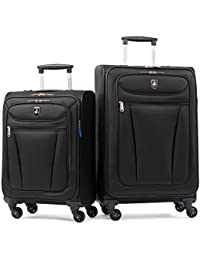 Avion Lite 2 Piece Spinner Luggage Set, Black