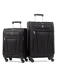 Atlantic Luggage Avion Lite 2 Piece Spinner Luggage Set, Black