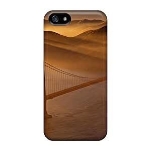 Durable Protector Case Cover With The Sun Sets Over The Golden Gate Hot Design For Iphone 5/5s