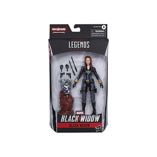 41bsk81NptL Marvel Hasbro Black Widow Legends Series 6-inch Collectible Black Widow Action Figure Toy, Premium Design, 6 Accessories…