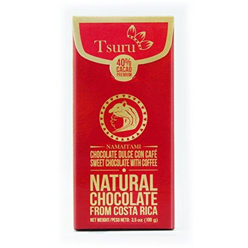 Tsuru Costa Rica 40% Chocolate bar with coffee & milk Namaitami, 3.5 oz