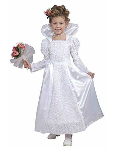 Custom Girl Halloween Costumes (Forum Novelties Deluxe Designer Collection Bride Princess Costume, Child Medium)