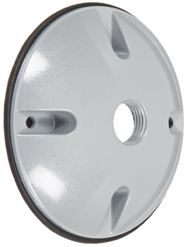 RAB Lighting C100 Die Cast Aluminum Weatherproof Round Cover with 1 Hole, 4-1/2