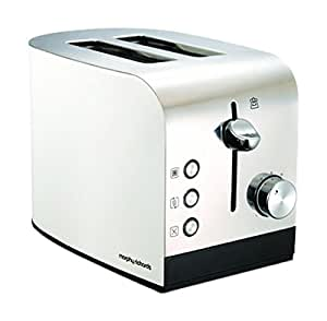 Morphy Richards 222051 Accents White Steel 2 Slice Toaster