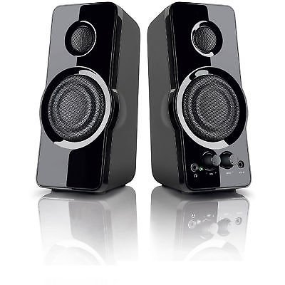 BlackWeb 3.5 mm aux imput MULTI-MEDIA PC SPEAKERS MP3 input