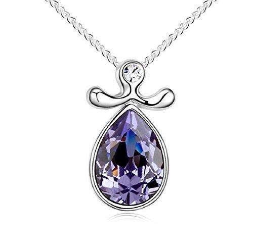 Yuriao Jewelry Elegant Fashion 18k Constellation Libra Crystal Pendant - Charlotte Sunglasses Nc