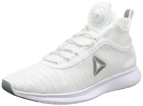 Pump Flame Trainers White Silver Womens Reebok Plus vxwRHdd