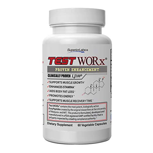 Superior Labs TEST WORx Natural Testosterone Booster With Clinically Proven LJ100 and 8 Other Powerful Ingredients Delivers A Noticeable Increase In Energy, Stamina, Recovery and Better Sleep and ()