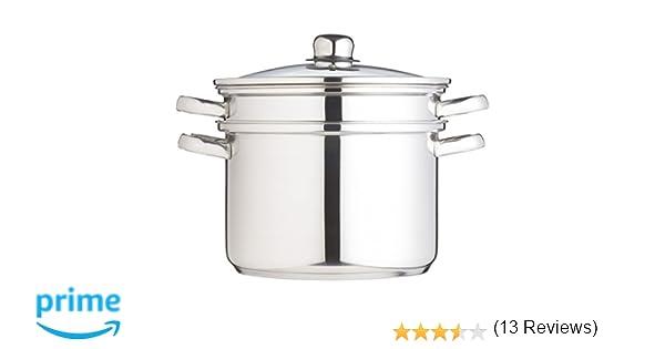 Kitchen Craft Clearview - Olla con accesorios para cocinar al vapor (7,5 litros), acero: Amazon.es: Hogar