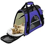 Oxgord Transportadora para Mascotas aprobada por AerolineasMediana, Morada