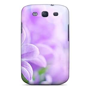 Hot Lilies Violet First Grade Tpu Phone Case For Galaxy S3 Case Cover