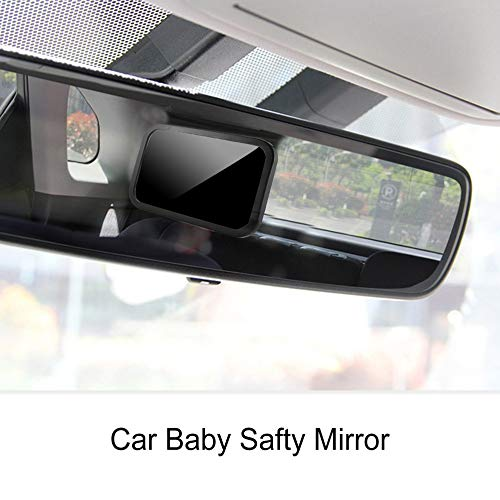 mimagogo Espejo de coche de seguridad del beb/Ã/© con el espejo retrovisor Soporte del asiento del beb/Ã/© Espejo Ni/Ã/±os Volver