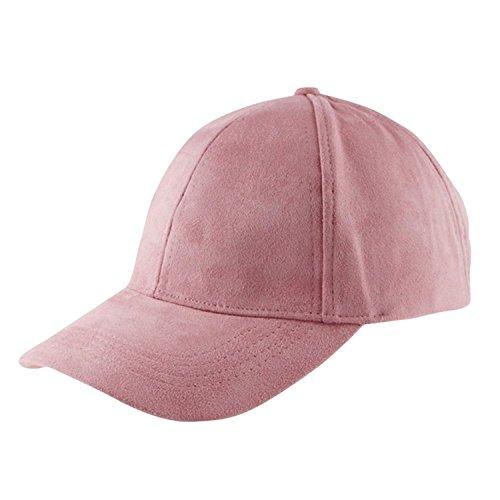 Miki Da NEW Hot New Autumn Cap Women Men Snapback Caps Suede Hats Street Hip Hop Caps For boys girls 8 Candy Colors Light pink