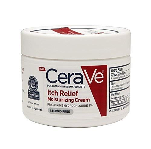 CeraVe Itch Relief Moisturizing Cream, 12 oz - Pack of 2