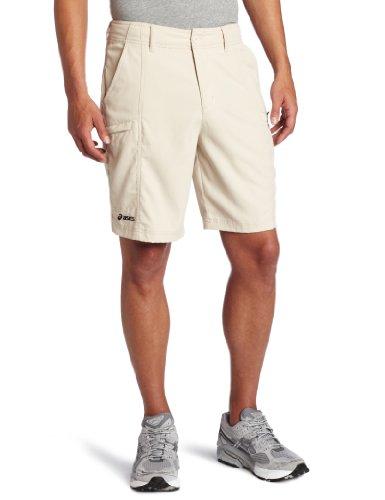 ASICS Men's Cargo Coaches Short, Stone, 32 (Baseball Shorts Adult)