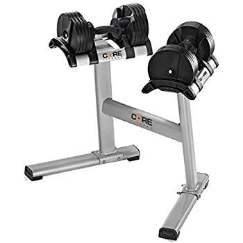 Amazon Com Core Fitness 174 Adjustable Dumbbells Amp Stand By
