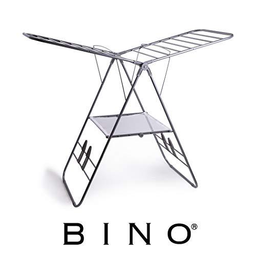 BINO Gullwing Collapsing Foldable Laundry Drying Rack, Silve