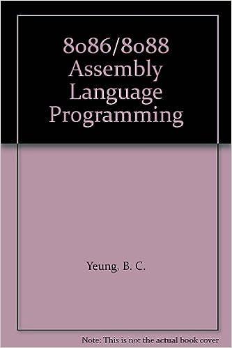 8086/8088 Assembly Language Programming: B  C  Yeung