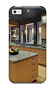 Hot Snap-on Contemporary Kitchen With Wood Cabinets And Granite Hard Cover Case/ Protective Case For Iphone 5c