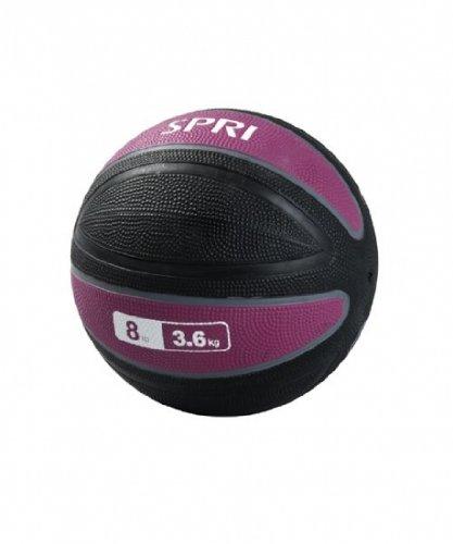 SPRI Xerball Medicine Ball, Rosewood, 8-Pound