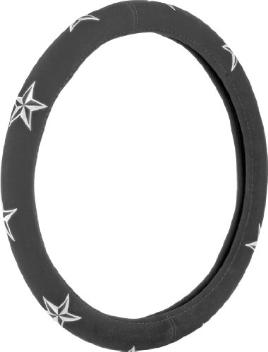 White Nautical Star (Bell Automotive 22-1-53209-1 Universal Nautical Star Steering Wheel Cover)