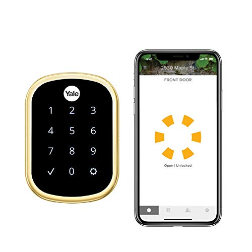 Yale Assure Lock SL, Wi-Fi and Bluetooth Deadbolt - Works with Amazon Alexa, Google Assistant, HomeKit, Airbnb and More - Brass