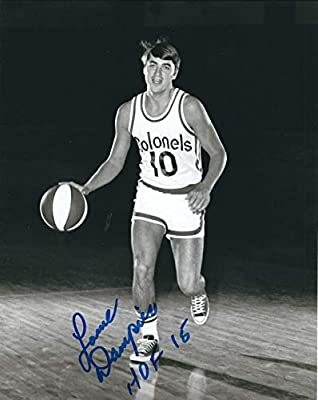 Autographed Signed Louie Dampier 8x10 Kentucky Colonels Photo - Certified Authentic