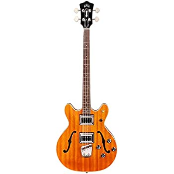 9693f74623a Amazon.com: Guild Starfire Bass II Guitar with Case (Natural ...