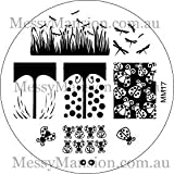 MESSY MANSION MM17 Nail Art Stamping Plate - Beetle and Ladybird Themed