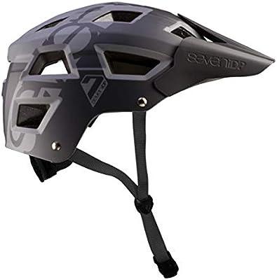 Seven M5 Casco de Bicicleta de montaña Mixta, M5, Negro/Gris ...