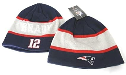 82e8f2f43d1 Image Unavailable. Image not available for. Color  New England Patriots Tom  Brady  12 Knit Beanie Hat