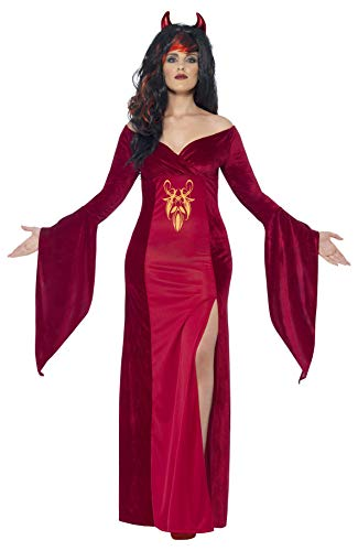 Smiffys Women's Devil Costume, Dress and Horns, Legends of Evil, Halloween, Plus Size 26-28, 44337
