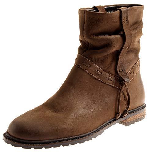 7063 Lederschuhe Damen Stiefelette SPM Lederstiefelette Kurzstiefel Leder Boots z1BAP