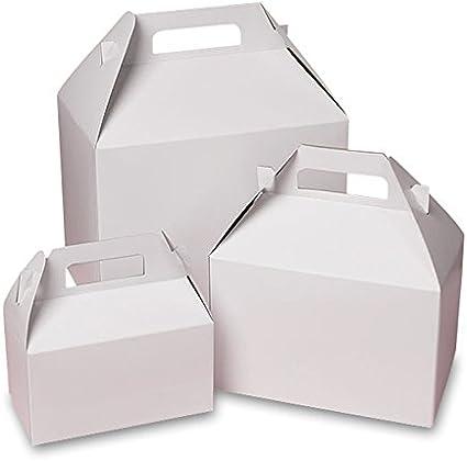Amazon.com: Cajas de Cartón Gable Blanco 10 x 7 x 8 ...