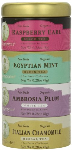 Zhena's Gypsy Tea Variety Sampler Tin, 16-Count Tea Sachets