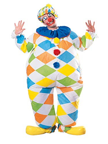 Rubie's Unisex-Adult's Inflatable Clown Costume, As Shown, One Size -