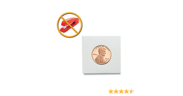 BCW Peel-N-Seal Self-Adhesive 2x2 Coin Flips for Dimes 100ct