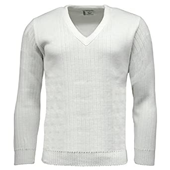 Green Play Men's Sports Jumper Professional Ribbed V Neck White ...