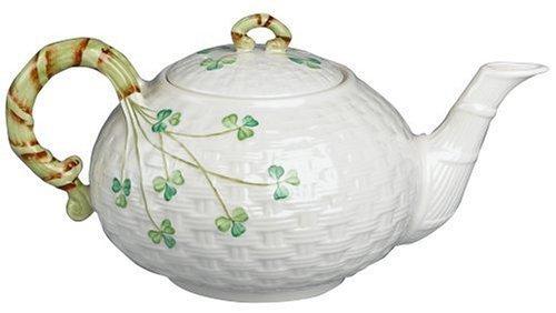 - Belleek Shamrock Teapot by Belleek