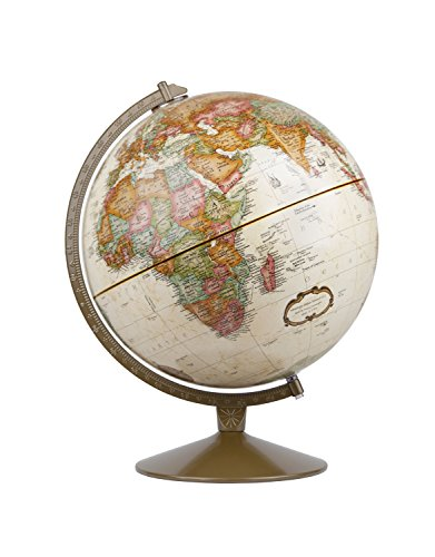(Replogle Globes Franklin World Globe, Antique Ocean, 12-Inch Diameter,Over 4,000 Place Names )