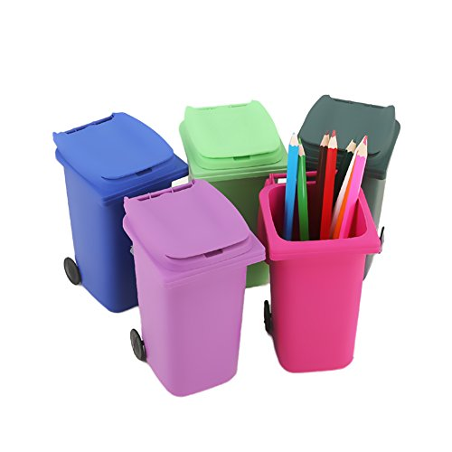 PYD Mini Garbage Can Home Office Desk Table Pen Pencil Holder Organizer Stationery Storage Basket Case Photo #3